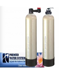 Salt Free Water Conditioner | 20 GPM | + Catalytic Carbon Media Tank with Manual Backwash Valve | 2 Systems