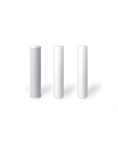 """Standard Replacement Water Pre-filters for 10"""" Housing: 2 Sediment, Carbon Block"""