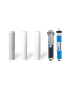 Replacement RO Filters + 50 GPD Membrane for 5 Stage Alkaline Reverse Osmosis