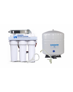6 Stage Alkaline Reverse Osmosis Water Filtration System - 75 GPD