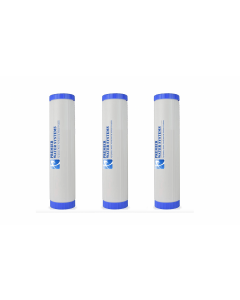 """City Water Bundle: Whole House 3 Big Blue Refillable Water Filter Cartridges 4.5"""" x 20"""" - GAC/KDF 55, Catalytic/KDF 55, Bone Char- Chlorine & Fluoride Removal"""