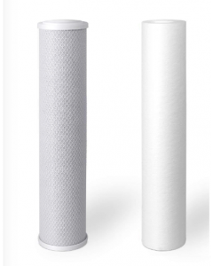 """Replacement 2 Stage Water Filters: Sediment + Carbon Block 2.5"""" x 9.75"""""""