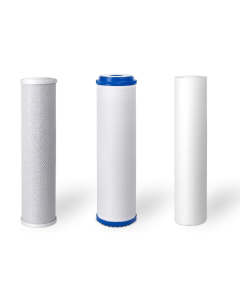 """Standard Replacement Water Pre-filters for 10"""" Housing: Sediment, Carbon Block, GAC/KDF 55"""