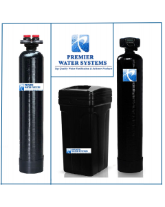 """Whole House Fleck Water Softener + Upflow Carbon Filtration System (12""""x 52"""", 64000 Grain, 2 Cubic Ft)"""